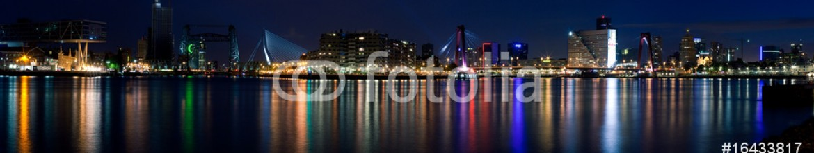 16433817 – Russian Federation – Night panorama of Rotterdam and Mass River