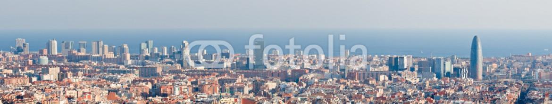 29525235 – Spain – Barcelona skyline panorama
