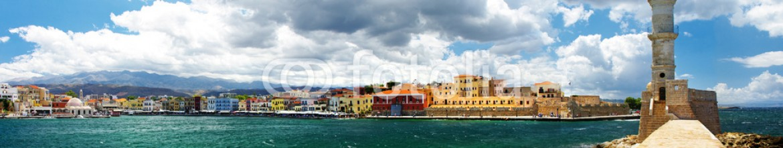 31878996 – Ukraine – Chania Crete (Greece) – panoramic image with light house