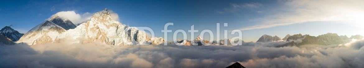 33207847 – United Kingdom of Great Britain and Northern Ireland – Panorama of Everst and Nuptse from Kala Patthar
