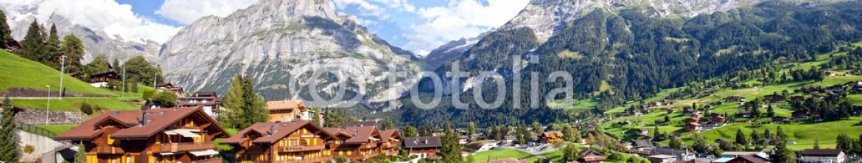 36009723 – Switzerland – Grindelwald Village Panorama