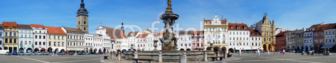 37186040 – Czech Republic – Panorama of the central square of Ceske Budejovice