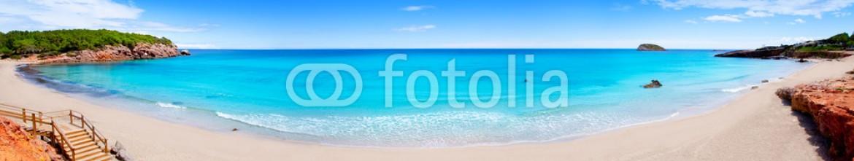 42643238 – Spain – Cala Nova beach in Ibiza island panoramic