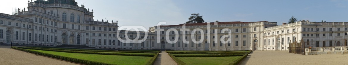 47175204 – Italy – Panoramic view of Stupinigi castle near Turin, Italy