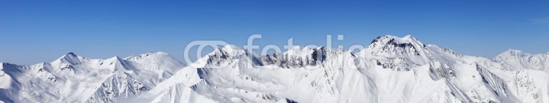 49687019 – Ukraine – Panorama of snowy mountains