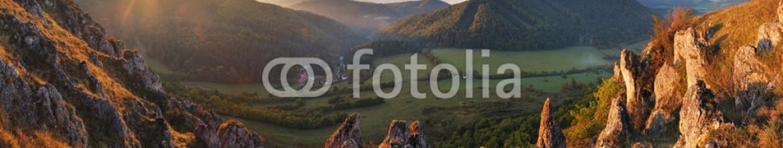 50620416 – Slovakia – Spring mountain panorama in Slovakia with sun
