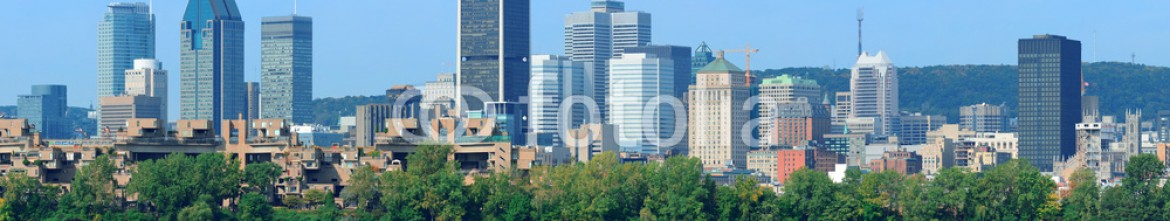 53062274 – United States of America – Montreal city skyline over river panorama