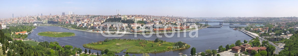 43371749 – Turkey – Istanbul city, Turkey. Panoramic view of Golden Horn