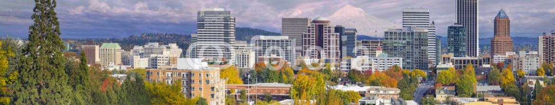 46357756 – United States of America – Portland Oregon Downtown Skyline with Mt Hood
