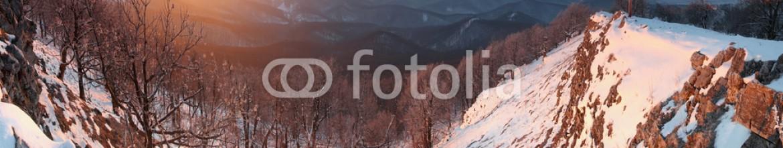 48332585 – Slovakia – Frosty sunrise panorama in beauty winter mountains