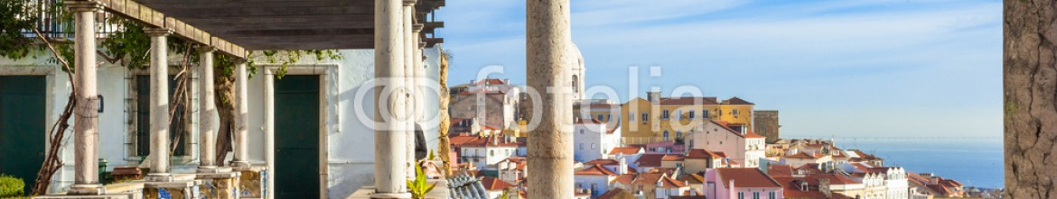 49289794 – Italy – Lisbon, Santa Luzia viewing point over the Alfama district