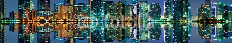 52175375 – United States of America – Miami Skyline at night