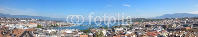 54189517 – Switzerland – A Panoramic View of Geneva City and Lake Leman