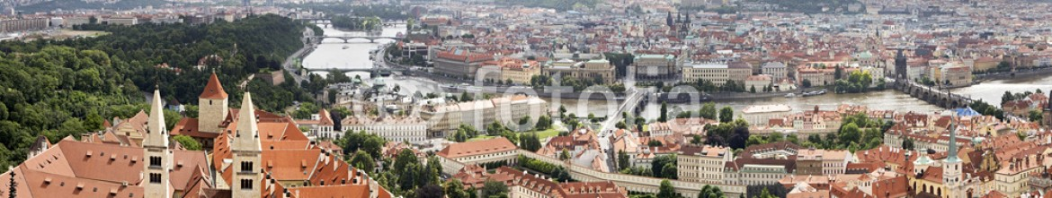 54289708 – Russian Federation – Panorama of historical center of Prague (aerial).
