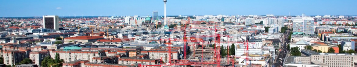 55180328 – Germany – Berlin panorama. Berlin Catherdral and TV Tower