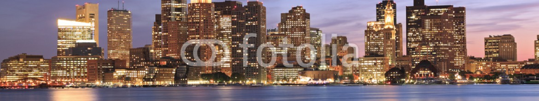 55414288 – Canada – Boston skyline and Inner Harbor at dusk, USA