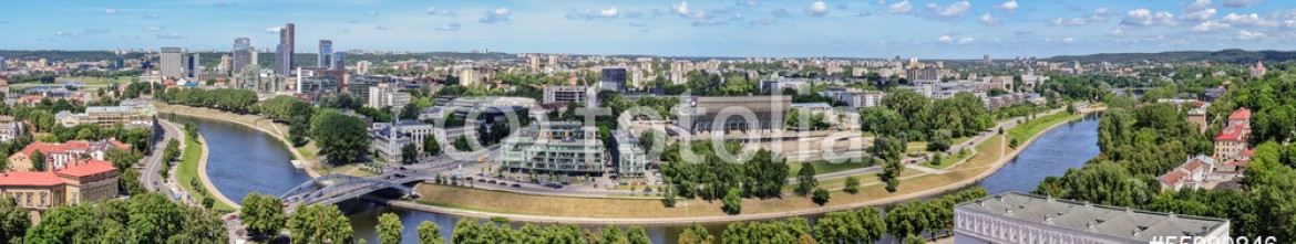 55990846 – Lithuania – panorama – view of the city of Vilnius from the tower of Gedimin