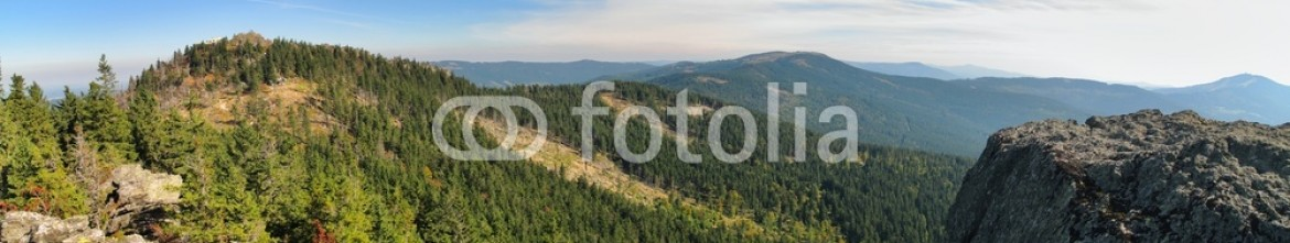 57020907 – Czech Republic – east view from Klein Osser to Ostry and Jezerni hora mountain