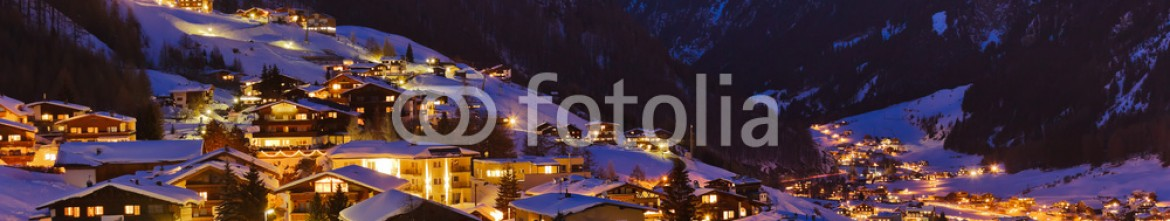 57465787 – Russian Federation – Mountains ski resort Solden Austria at sunset