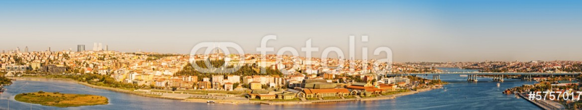 57570177 – Russian Federation – panorama golden horn at Istanbul. Turkey