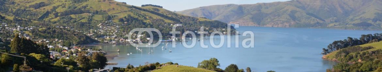 59272787 – New Zealand – Akaroa Town Panorama, New Zealand