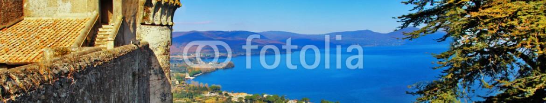 59490562 – Ukraine – view of lake from Castle Odescalchi di Bracciano, Italy