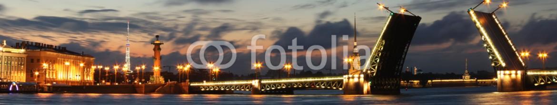 59722358 – Russian Federation – Panorama of night St. Petersburg, Russia