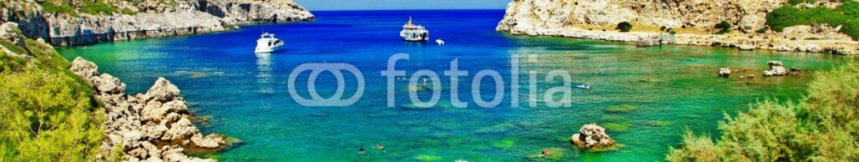 60108203 – Ukraine – turquoise beaches of Rhodes,Greece