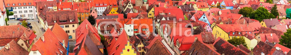 60290231 – Germany – Aerial panorama of Rothenburg ob der Tauber, Germany