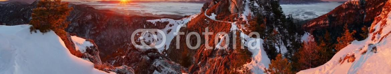 60352353 – Slovakia – Panoramic mountain winter landscape, Slovakia