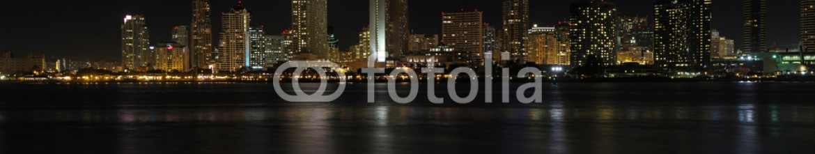 60775514 – United States of America – Panoramic skyline of San Diego, California at night