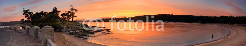 60832479 – Australia – Sunrise Balmoral Beach Panorama  Australia