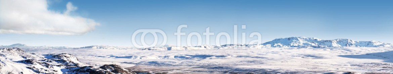 61439412 – Iceland – Icelandic ice desert landscape panorama 4×1 Ratio