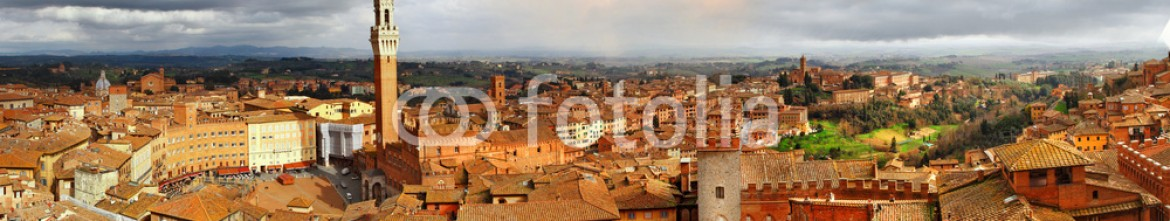 62420516 – Ukraine – beautiful Siena,Italy.  panoramic image