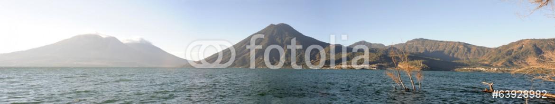 63928982 – Switzerland – Lake Atitlan with volcano San Pedro