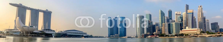 64209758 – Singapore – Singapore panorama skyline in the morning