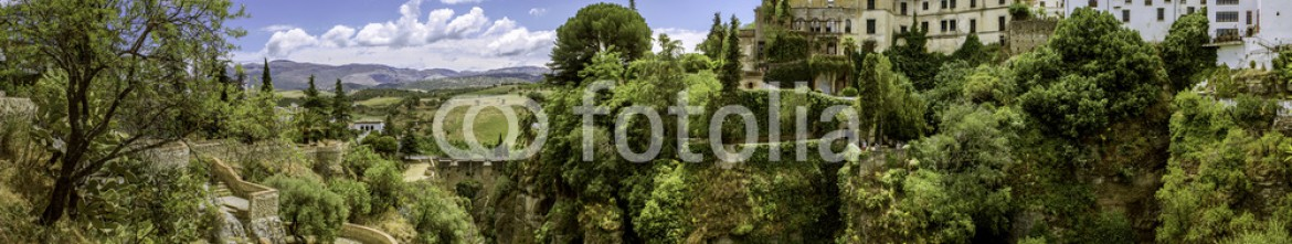 66058930 – Spain – Ronda landscape panoramic view. A city in the Spanish autonomous