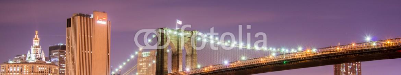 66282728 – Azerbaijan – Brooklyn bridge at night in New York