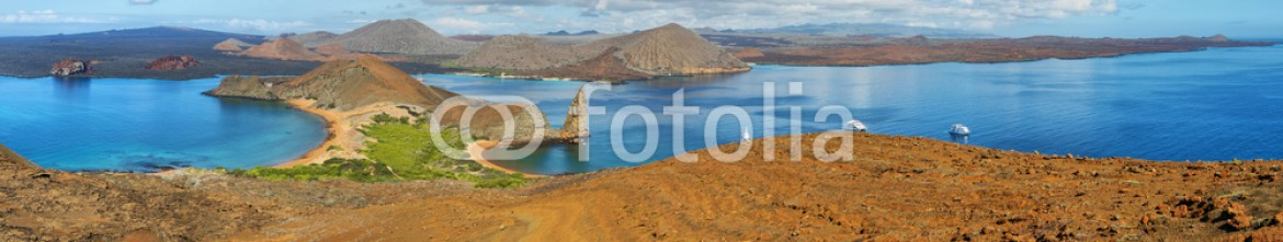 66350751 – Spain – Panoramic view of pinnacle Rock and surroundings in Bartolome