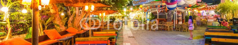 66592325 – Greece – KOS, GREECE – JUNE 7, 2014: City streets at night. Kos ia a very