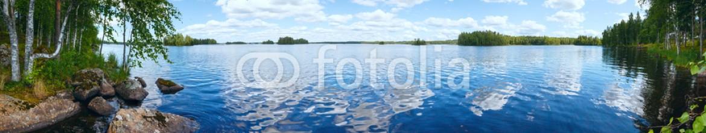 67428186 – Ukraine – Lake Rutajarvi summer panorama (Finland).