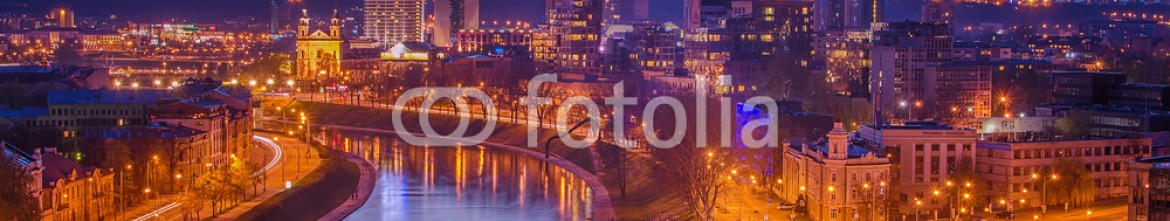 67571792 – Lithuania – Aerial night view of Vilnius (capital city of Lithuania)