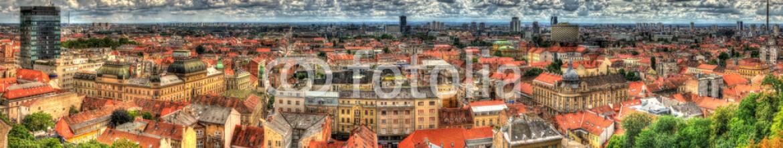 67685814 – Croatia – Panorama of Zagreb city in Croatia