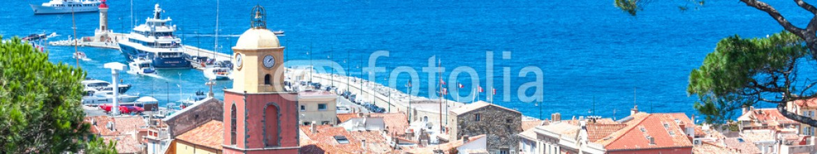 68020645 – France – Panoramic view of the bay of Saint-Tropez, France