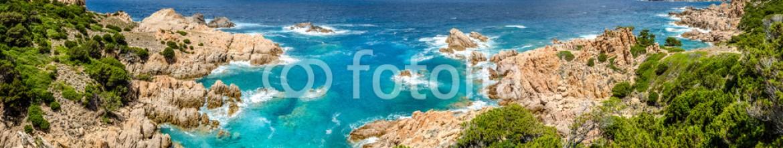 68140866 – Italy – Beautiful ocean coastline panorama in Costa Paradiso, Sardinia