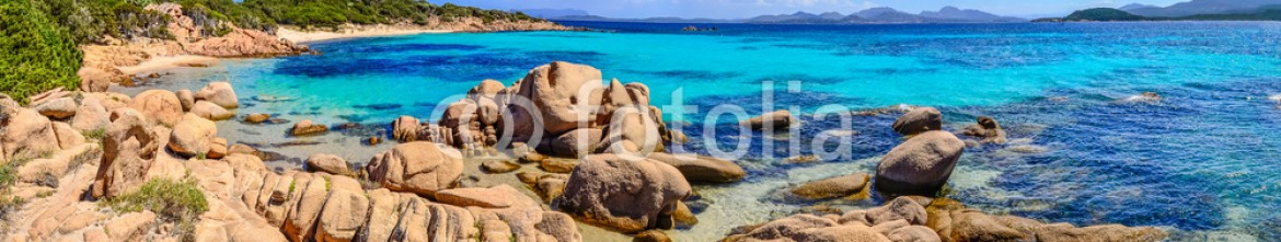 68140908 – Italy – Beautiful ocean coastline panorama in Costa Smeralda, Sardinia