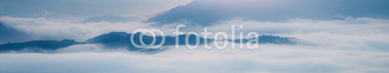 68370338 – Ukraine – Mountains ridge at foggy morning