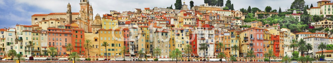 68469307 – Ukraine – panorama of Menton.beautiful town in border of France and Italy