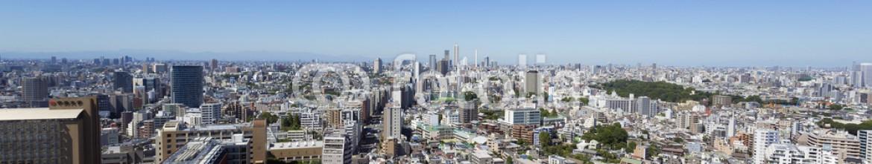 68933301 – Japan – [東京都市風景]池袋方面を超広角で望む-003