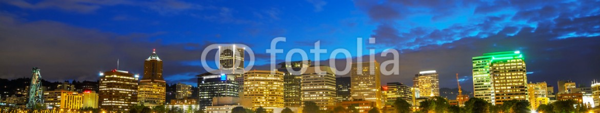 69311786 – United States of America – Downtown Portland cityscape at the night time